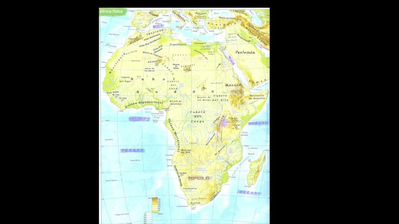 Relieve De Africa Mapa.Elementos De Relieve De Africa Youtube