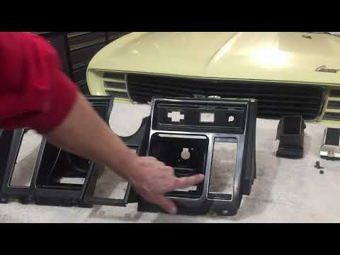 1969 Camaro RS Convertible Plastic Dash Repair. Broken Tabs & Switch Posts.