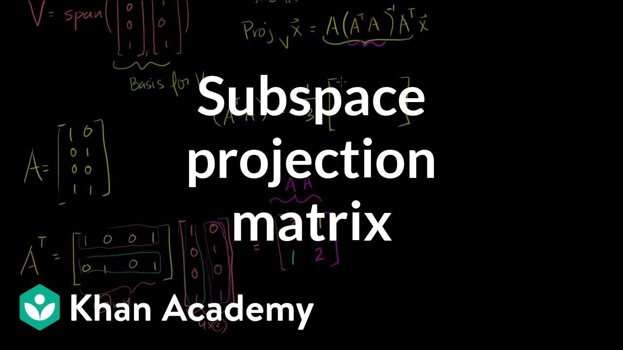how to find subspace of matrix