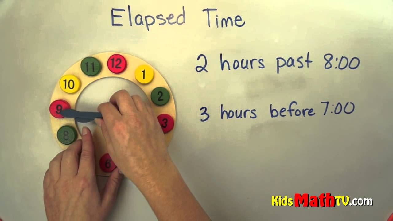 hight resolution of Elapsed time on clocks math video lesson