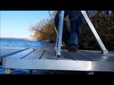Sectional Dock Removal - Never Get Wet Again!