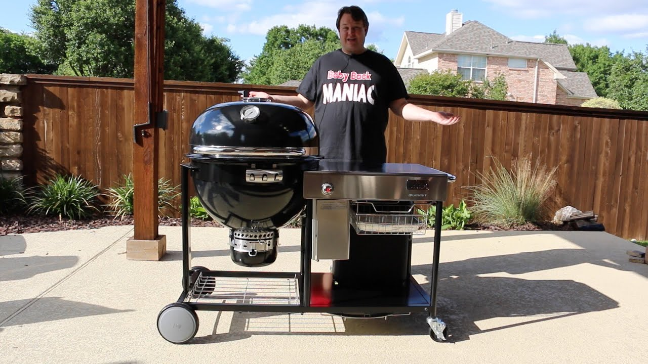 the weber summit charcoal grill grilling center is a kamado youtube