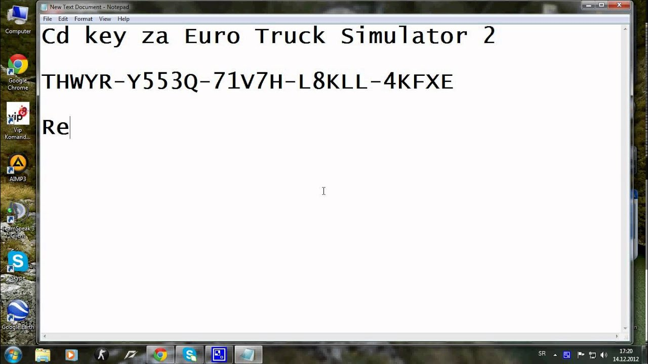 product key for eurotrucksimulator2