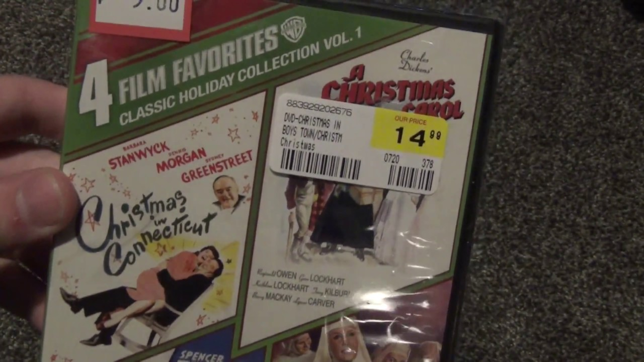 Christmas In Connecticut Dvd.Classic Holiday Collection Volume 1 Dvd Unboxing Christmas In Connecticut Boys Town