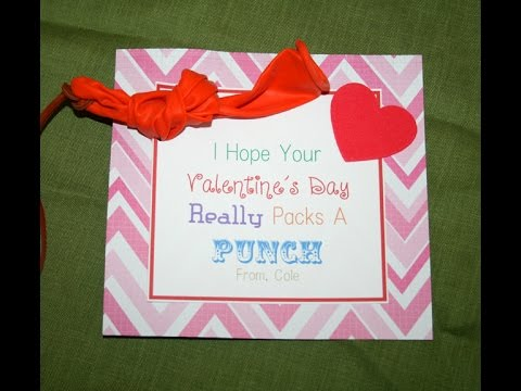 How To Make A Punch Balloon Valentine With MS Word   Non Candy Valentine