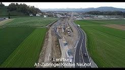 """Drohnenflug über die Baustelle """"A1 Zubringer Lenzburg"""""""