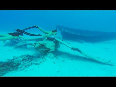 KALOEA Girls - Freediving a Plane Wreck in Tahiti (HD)