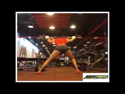 LX Fitness – SIDE LUNGES CÙNG TẠ THANH – Bài tập vòng 3