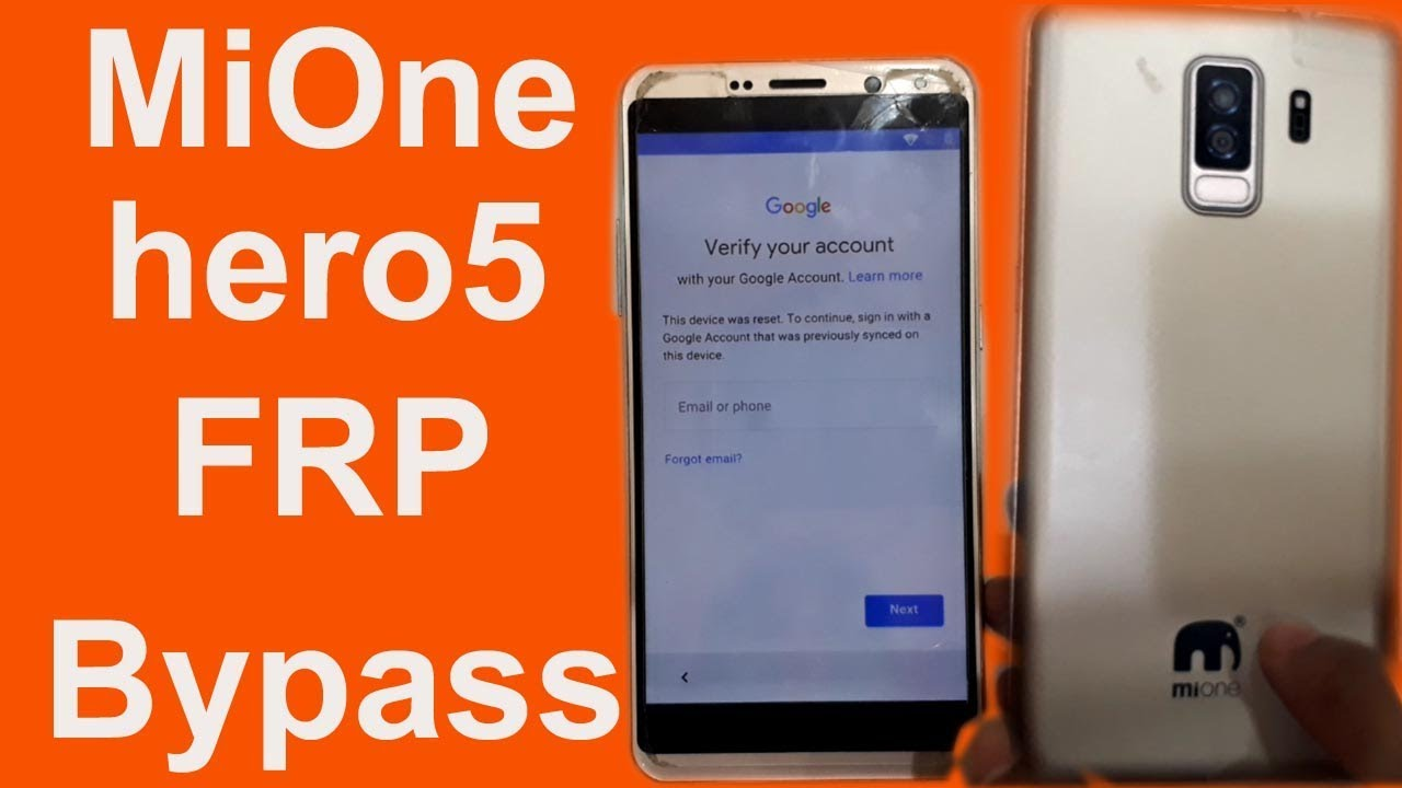 Mione hero5 frp bypass - Video - ViLOOK