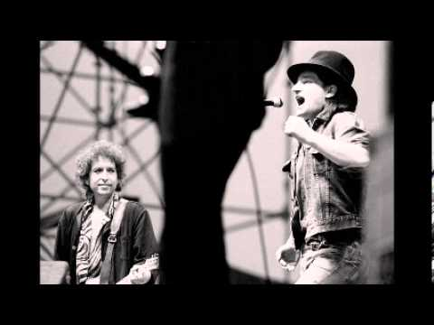 Bob Dylan, Santana & Bono - Blowin' in the wind (Live Slane Castle 1984-07-08)