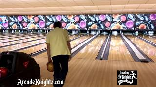 Slow Falling 7 Pin During 300 Game - Arcade Knightz Bowling 900 Global Honey Badger