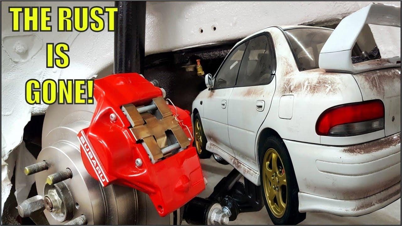 Subaru WRX GC8 Super Rusty Rear End Restoration - Part 3 - Epic Transformation!