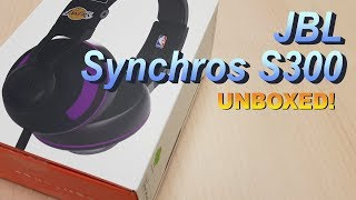 JBL Synchros S300 NBA Edition UNBOXED! (4K)