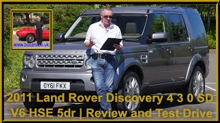 Review and Virtual Video Test Drive In Our 2011 Land Rover Discovery 4 3 0 SD V6 HSE 5dr OY61FKX 2