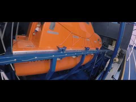 Gdynia Maritime School - Free Fall Lifeboat Training