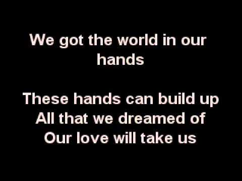World in our hands karaoke - Taio Cruz