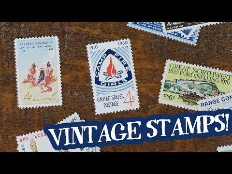 Vintage Postage Stamp Unboxing
