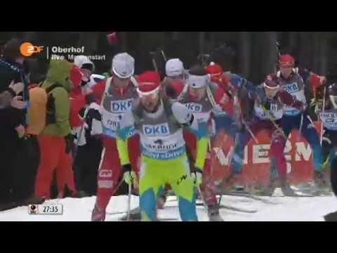11.01.2015 Biathlon Oberhof Massenstart Herren Winner Martin Fourcade(full)