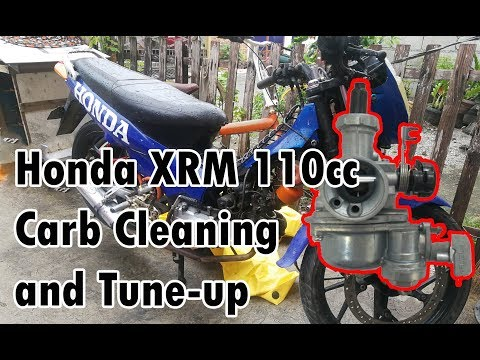 Honda XRM 110cc Carburetor Cleaning and Tune-Up