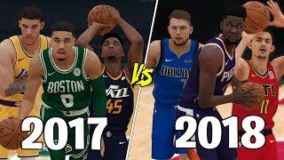 2018 NBA Rookies vs 2017 NBA Rookies! | NBA 2K19 Challenge |