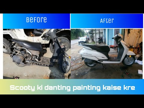 how to paint a bike with spray paint | honda activa bike painting  YouTube ·