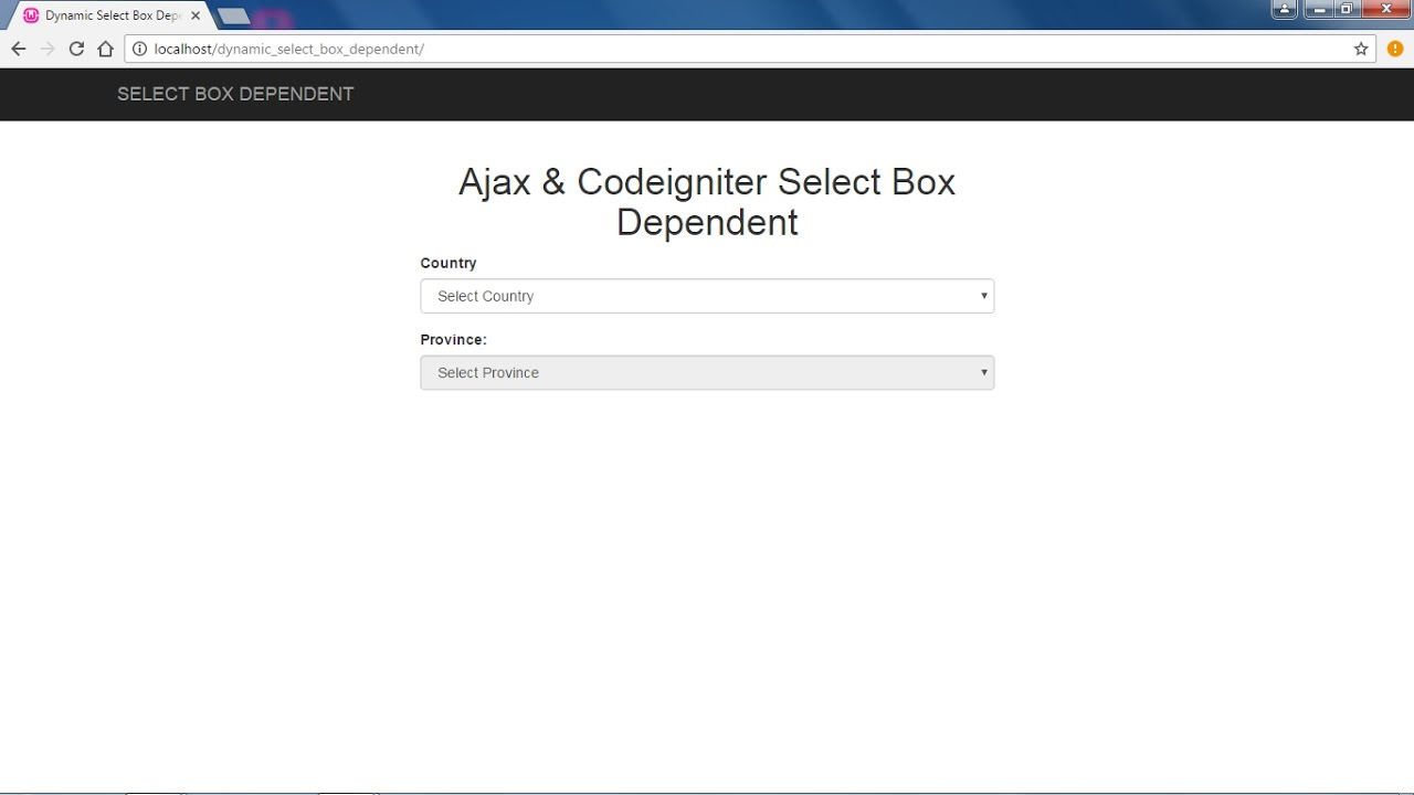 Ajax & Codeigniter -- How to create dynamic select box dependent with  codeigniter & bootstrap