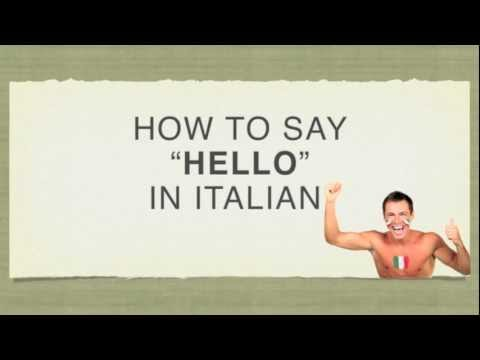 how to say eat in italian
