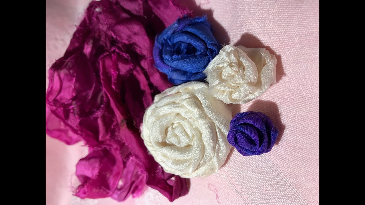 Mars Is Live ~ How to ~ Sari Silk Flowers ~ Rolled Roses ~ Just Playing  Around Today