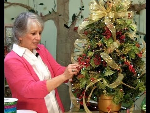 Christmas Tree Decorating Ideas With Mesh Ribbon 2017 Youtube