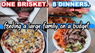 A WEEK OF DINNERS WITH ONE BRISKET | COOK WITH ME | EASY FAMILY MEALS ON A BUDGET