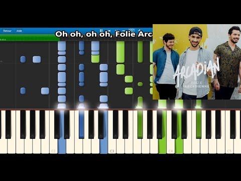 Arcadian - Folie Arcadienne - Karaoke / Piano synthesia tutorial (+ lyrics & Sheet music)