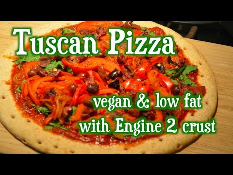 Best Plant-based Pizza with Rip Esselstyn's Engine 2 vegan, oil-free Pizza  Crust