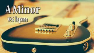 A Minor Rock Guitar Backing Track (95 bpm)