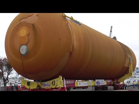 NASA Space Shuttle External Tank ET94 ARRIVES Marina Del Rey 5/18/2016