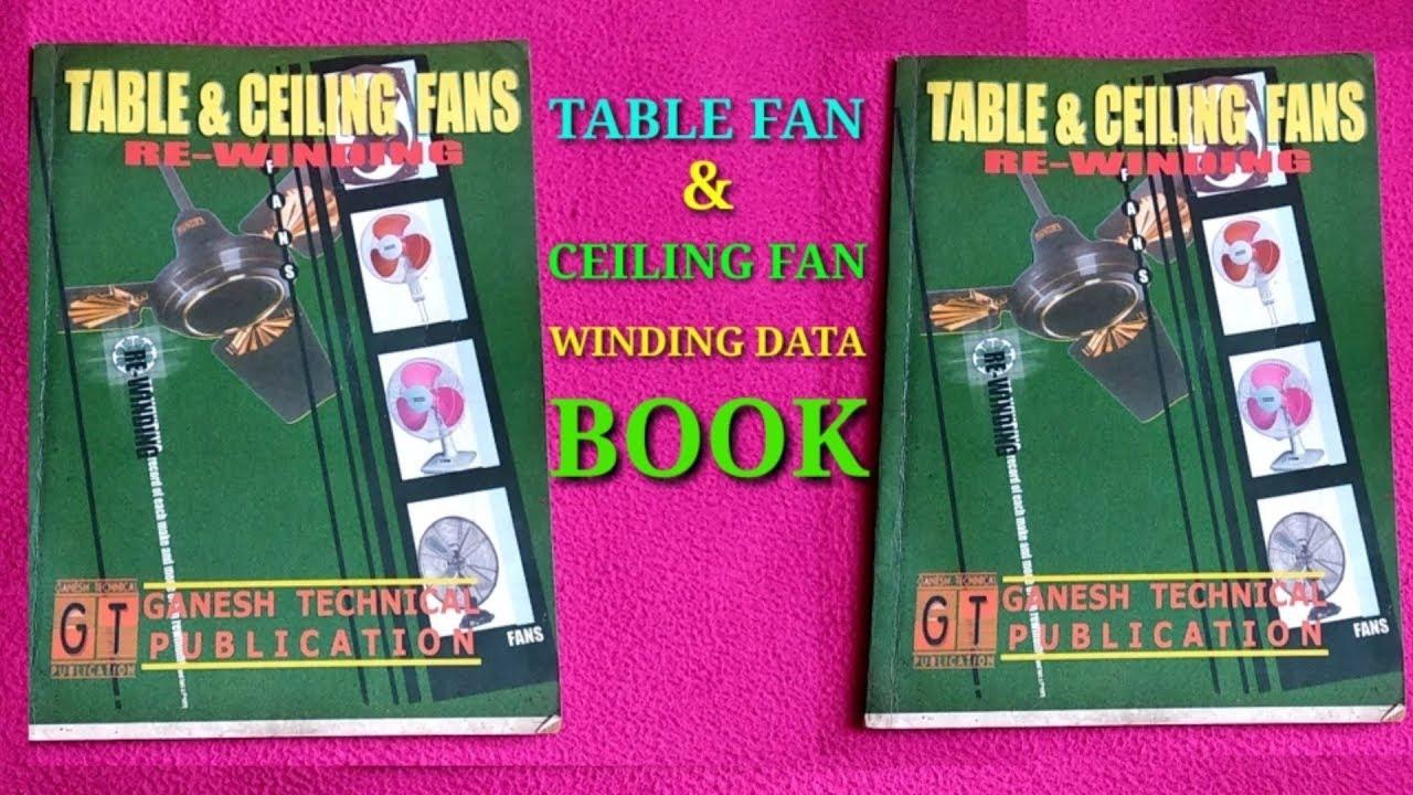 table fan ceiling fan winding data book [ 1280 x 720 Pixel ]