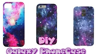 DIY ♡ FUNDA GALACTICA PARA CELULAR TUMBLR  (Facil) ♡Mi primer video