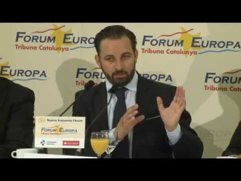 Fórum Europa Tribuna Catalunya con Santiago Abascal