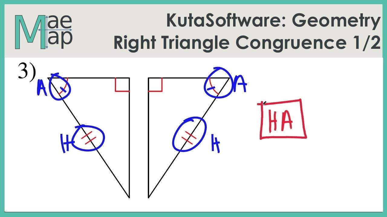 Kutasoftware Geometry Right Triangle Congruence Part 1 Youtube