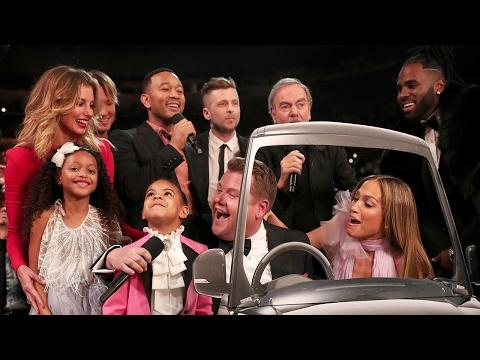 James Corden Does EPIC Carpool Karaoke W/ Blue Ivy, Jennifer Lopez & MORE At 2017 Grammy Awards
