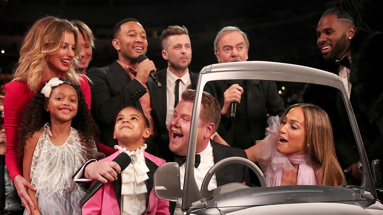 James Corden Does EPIC Carpool Karaoke W/ Blue Ivy, Jennifer Lopez \u0026 MORE At 2017 Grammy Awards