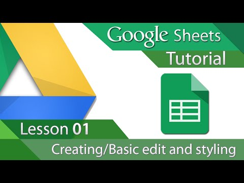 google-sheets---tutorial-01---creating-and-basic-formatting