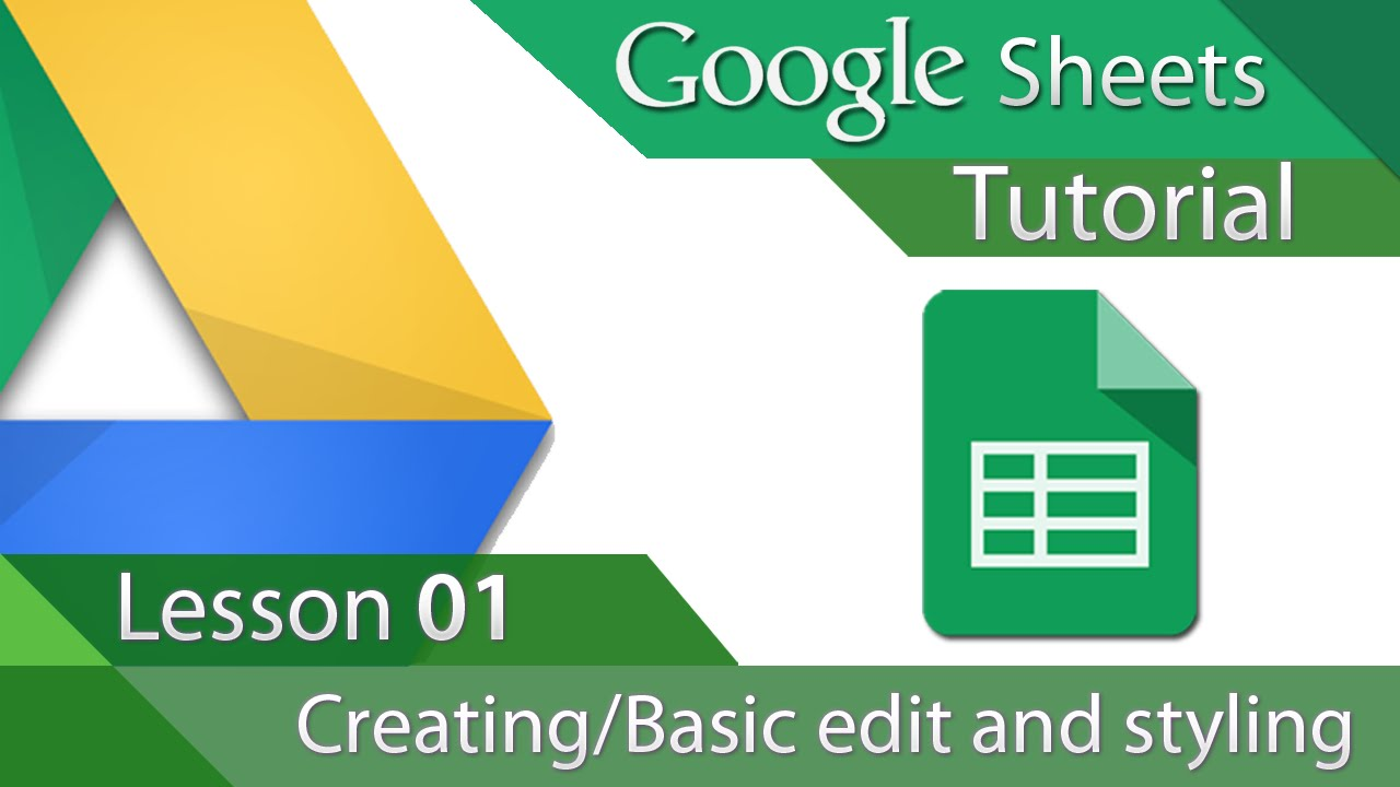 Google sheets tutorial 01 creating and basic formatting youtube baditri Image collections