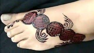 New Stylish Mehndi design for legs | Simple Mehndi design for foot | Easy Mehndi Design