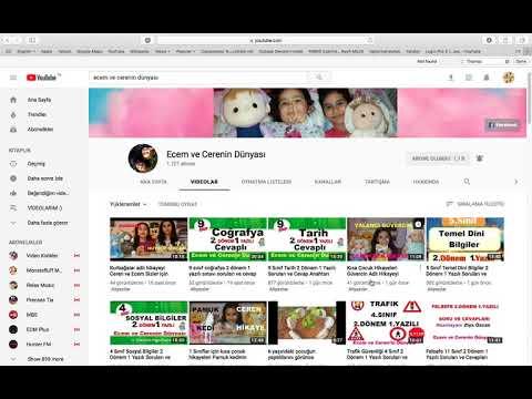 Önemli Youtube Bilgileri #16 Ecem ve Cerenin Dünyası seo istikrar eğitim bilinç azim dayanışma
