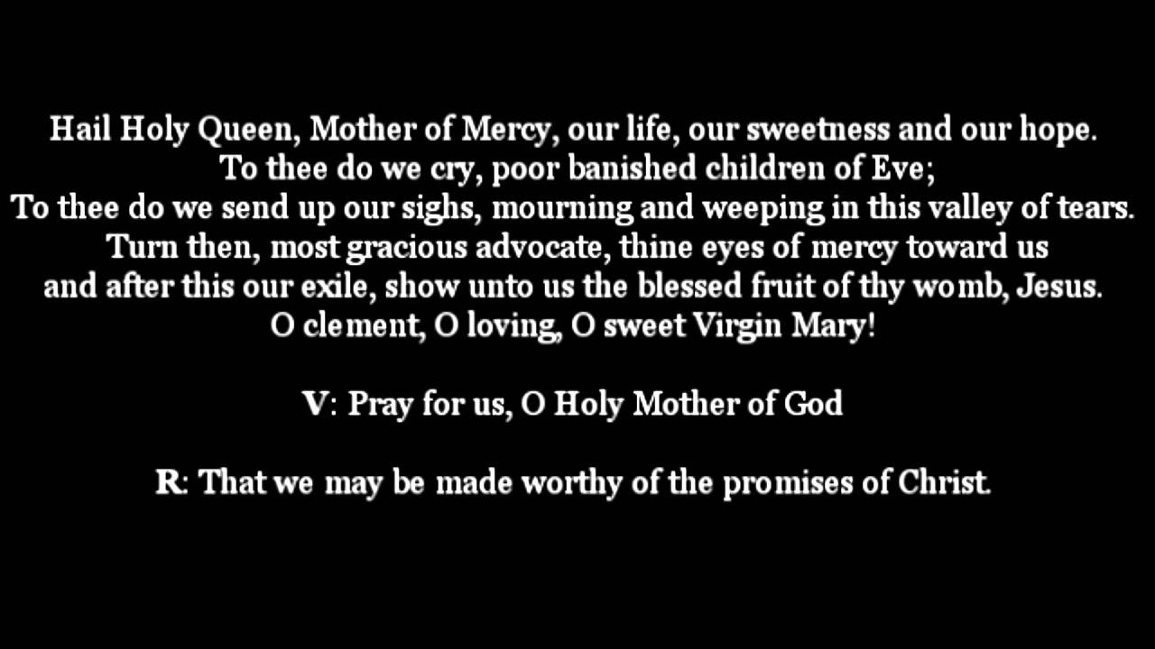 hail holy queen text