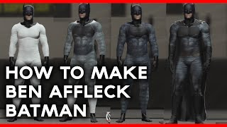 WWE 2K16 | HOW TO MAKE - BEN AFFLECK BATMAN