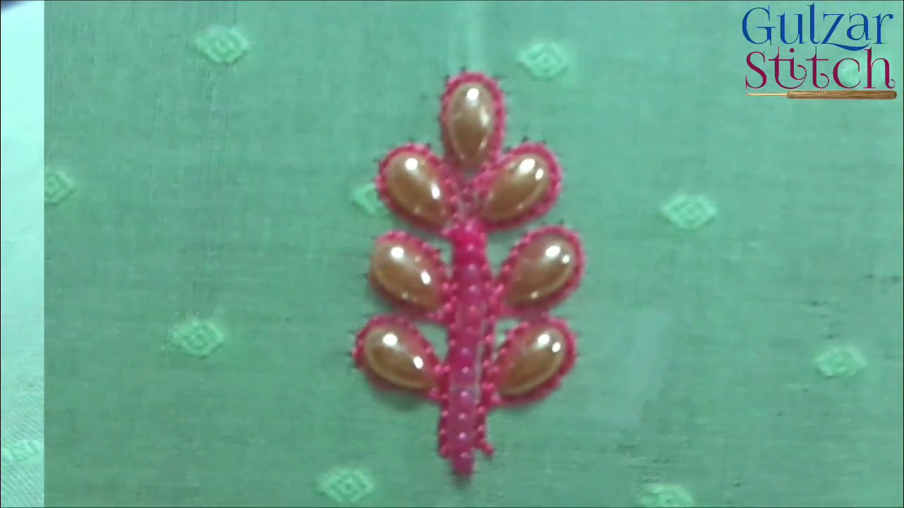 Patthar paan new material hand embroidery design - YouTube