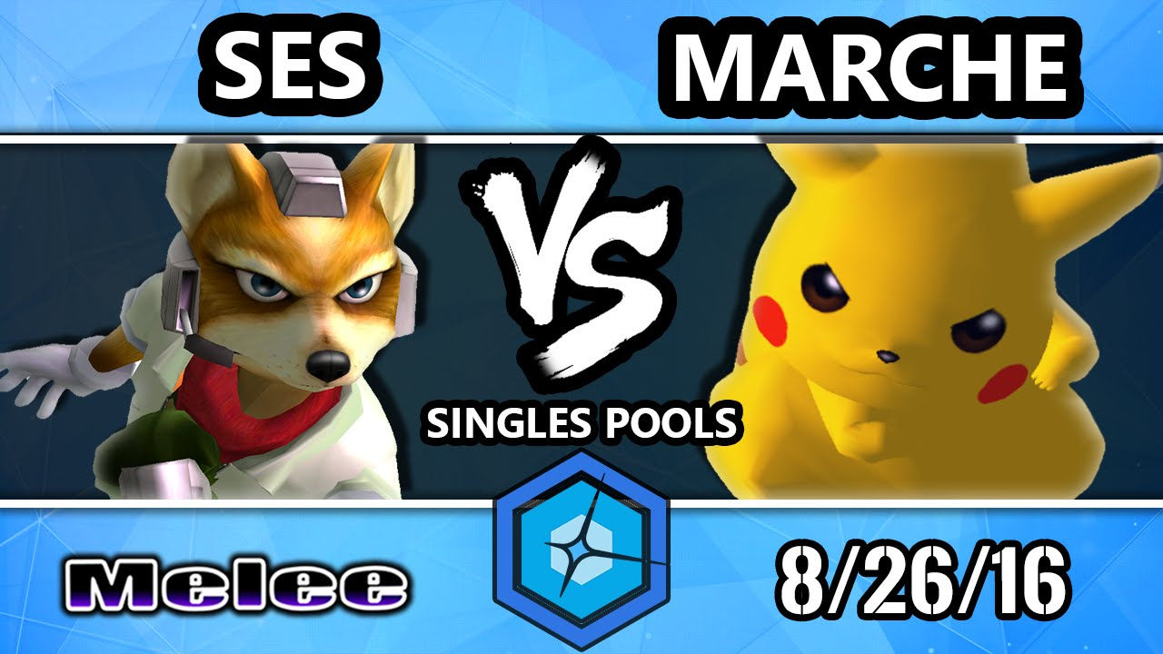 shine 2016 ssbm - ses (fox) vs. marche (pikachu) melee singles - youtube