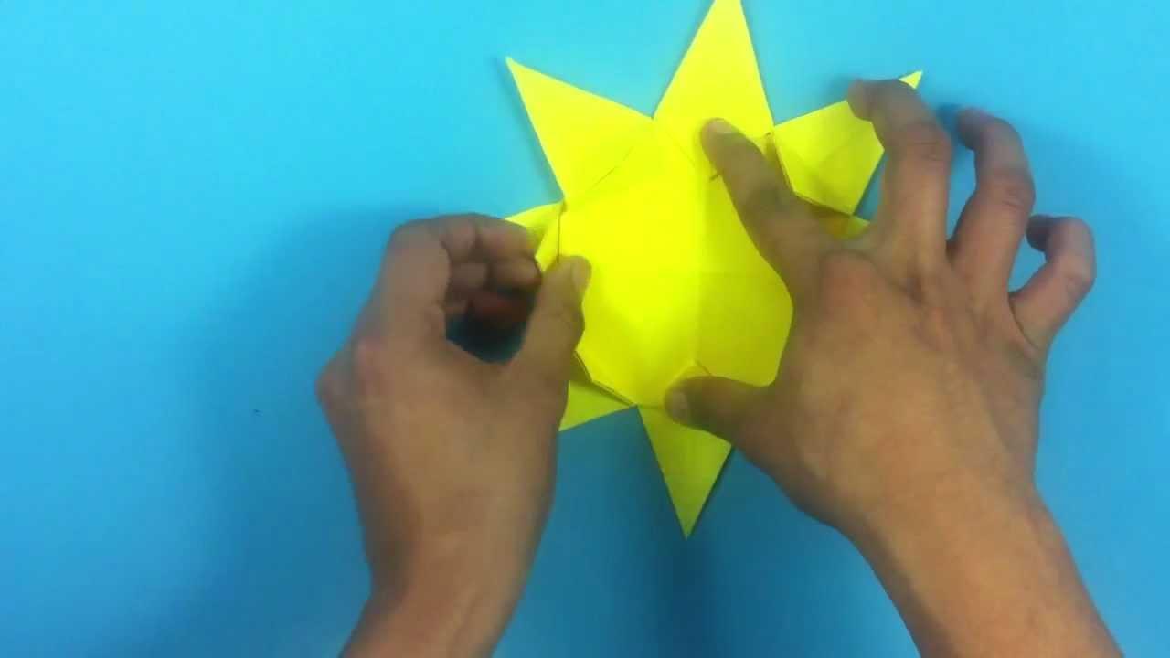 Hacer Un Sol De Origami Actividades Infantiles Youtube