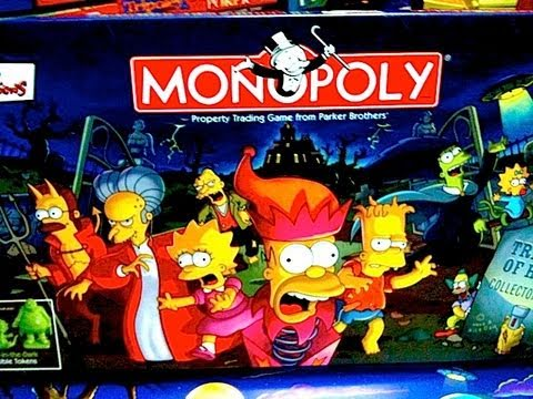 Halloween Simpsons Treehouse Of Horror.Simpson S Treehouse Of Horror Halloween Monopoly Game Toy Review By Mike Mozart On Thetoychannel